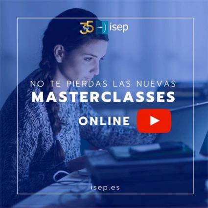 Masterclasses online de ISEP 100% subvencionadas